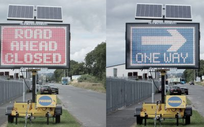 The world's first solar powered traffic signs